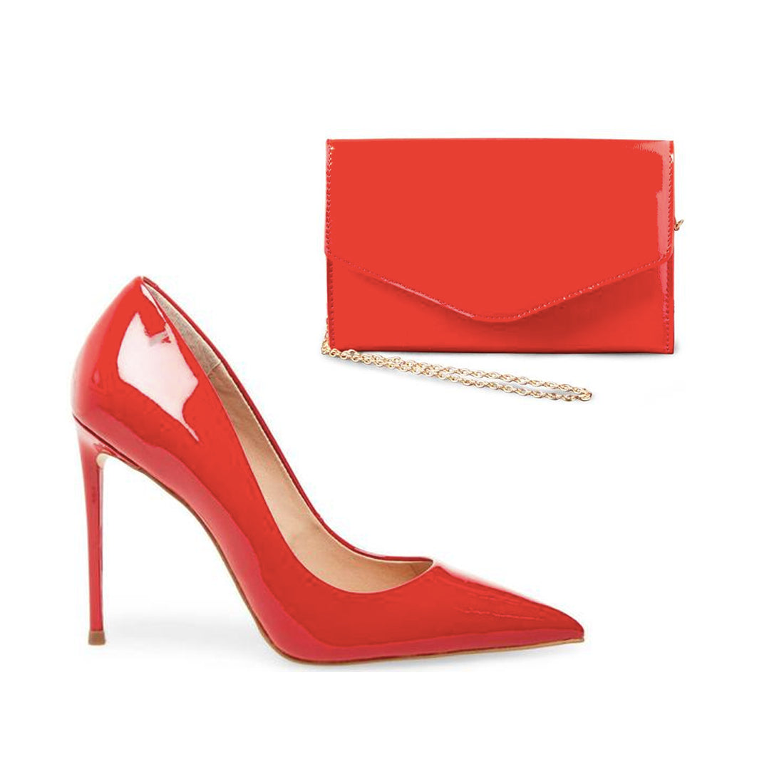 VALA + BWORLDLY RED PATENT
