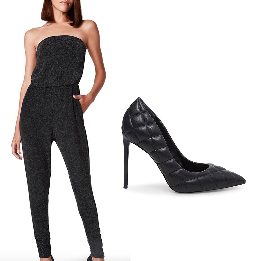 SPARKLE JUMPSUIT + VALA BLACK MULTI