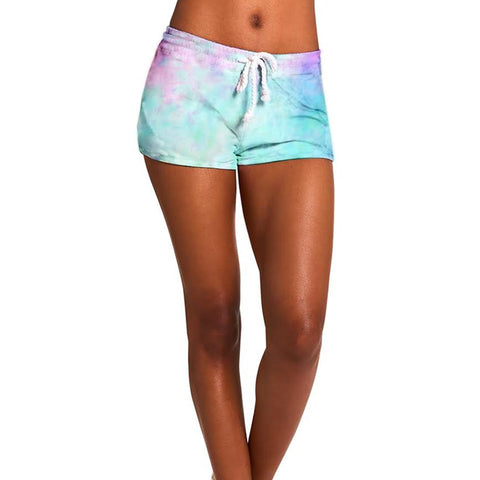 TIE-DYE SHORTS GREEN MULTI