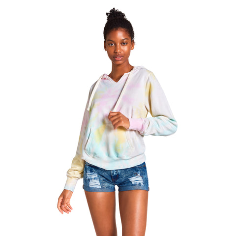 TIE-DYE PULLOVER SWEATSHIRT YELLOW MULTI