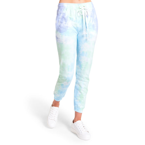 TIE-DYE JOGGERS PURPLE MULTI