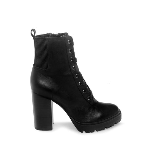 LATCH BLACK LEATHER - Steve Madden