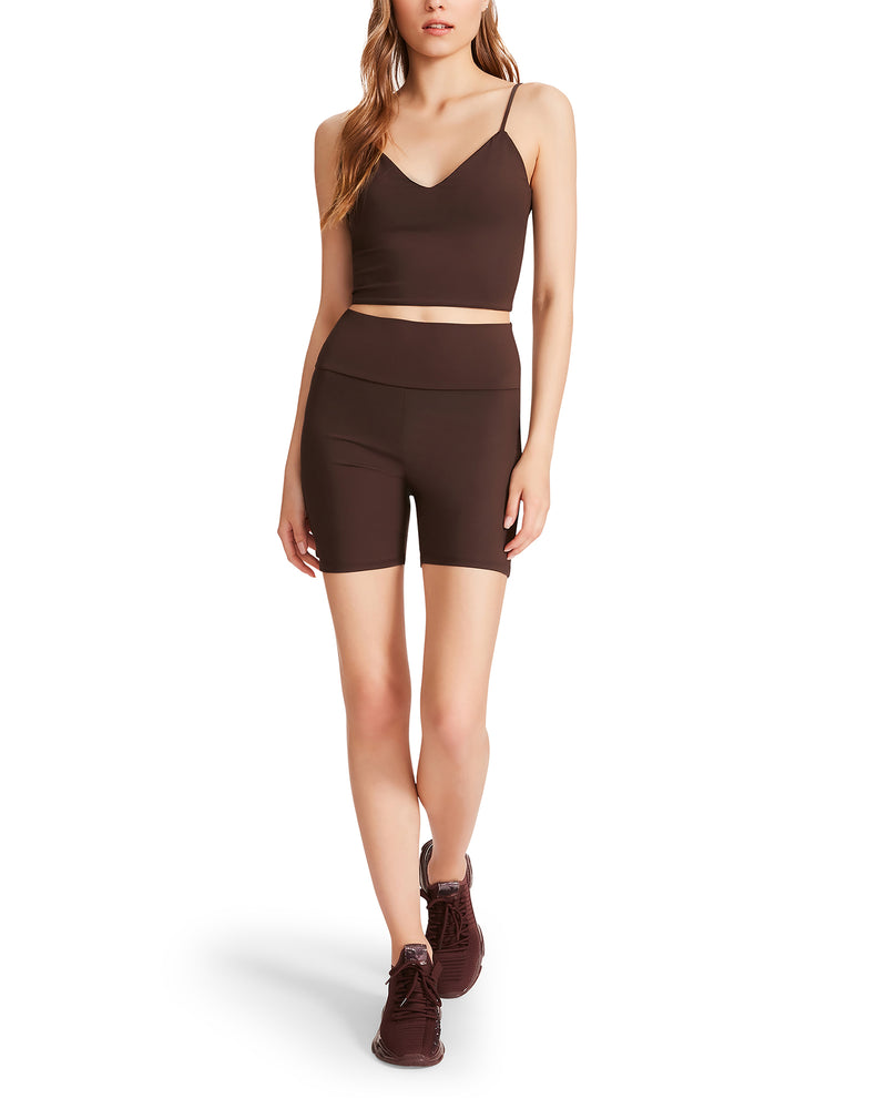 SPUN OUT BIKE SHORT BROWN