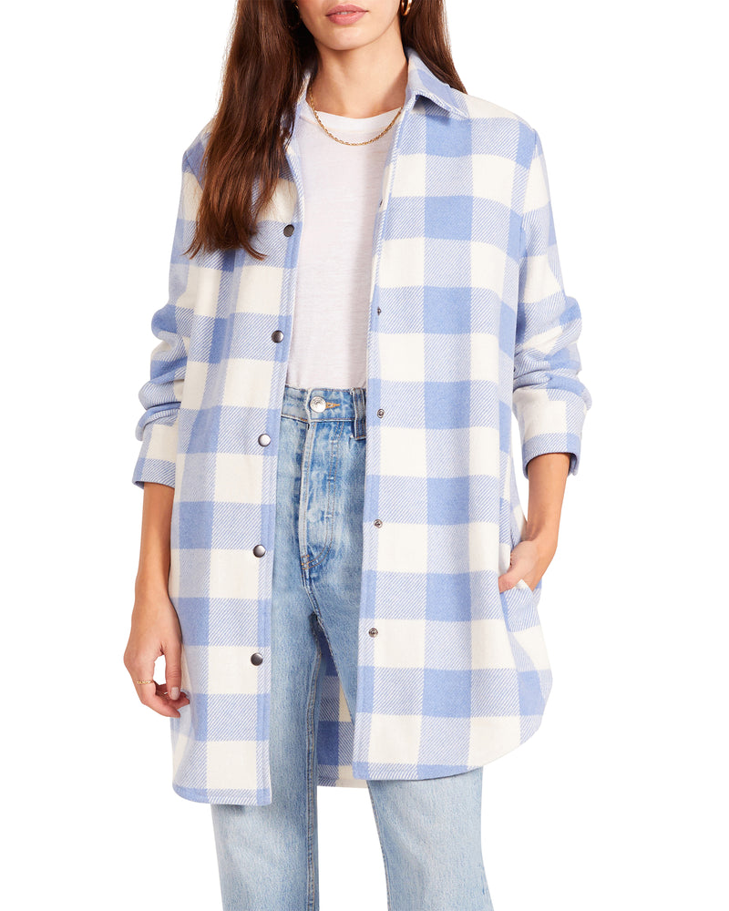ELDRIDGE PLAID COAT BLUE