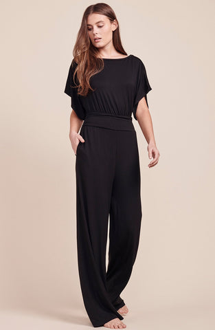 Hottie Off Duty Ruffle Sleeve Jumpsuit