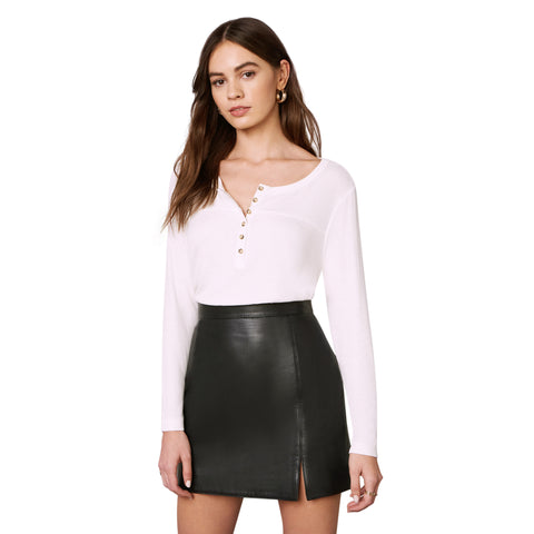 Gimmie A Mini Leather Skirt