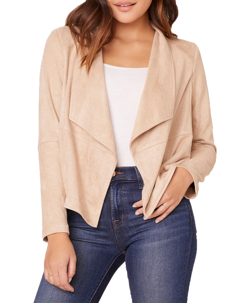 SUEDE IT OUT FAUX SUEDE JACKET TAN