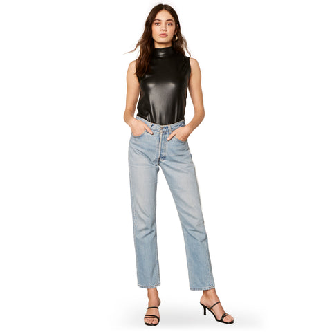 Faux-M-G Vegan Leather Bodysuit
