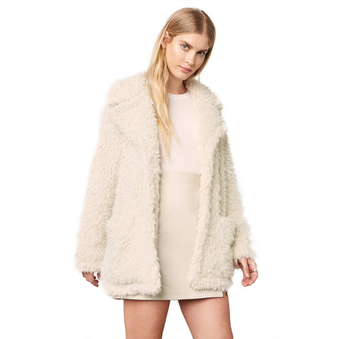 Warming Signs Faux Fur Coat