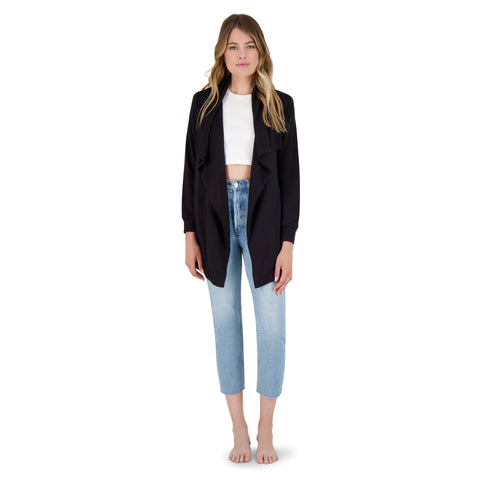 RAIN SHADOW CARDIGAN BLACK