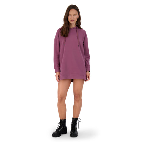 2 BLESSED 2 STRESS TUNIC HOODIE PLUM