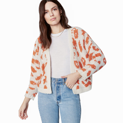 UNTAMED ART CARDIGAN IVORY