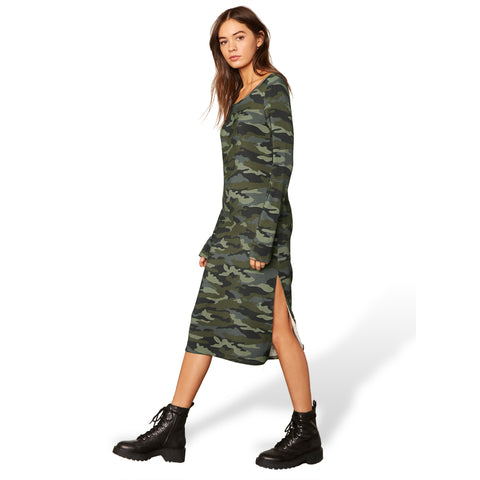 CAN YOU SEE ME NOW CAMO DRESS ARMY GREEN