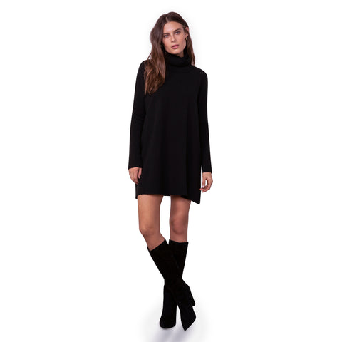 HUG ME TIGHT SWEATER DRESS BLACK