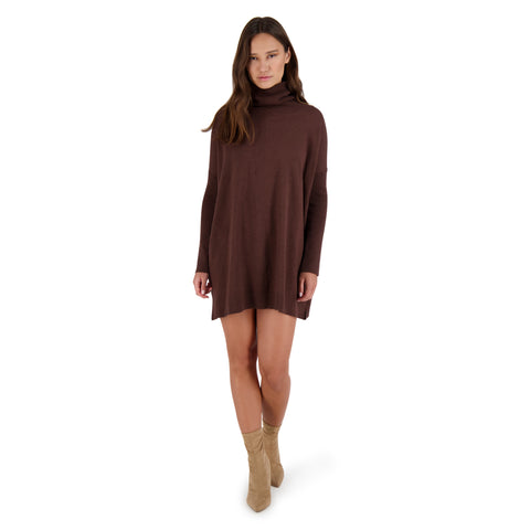 HUG ME TIGHT SWEATER DRESS WALNUT