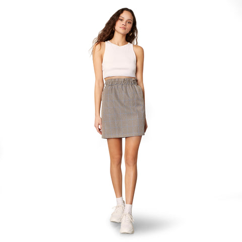 ALL HANDS ON DECK SKIRT TAUPE