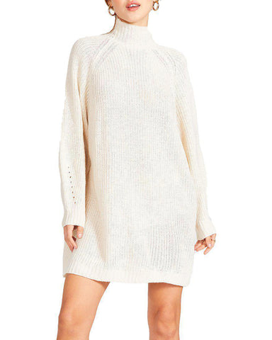 SWEATER MINI DRESS CREAM
