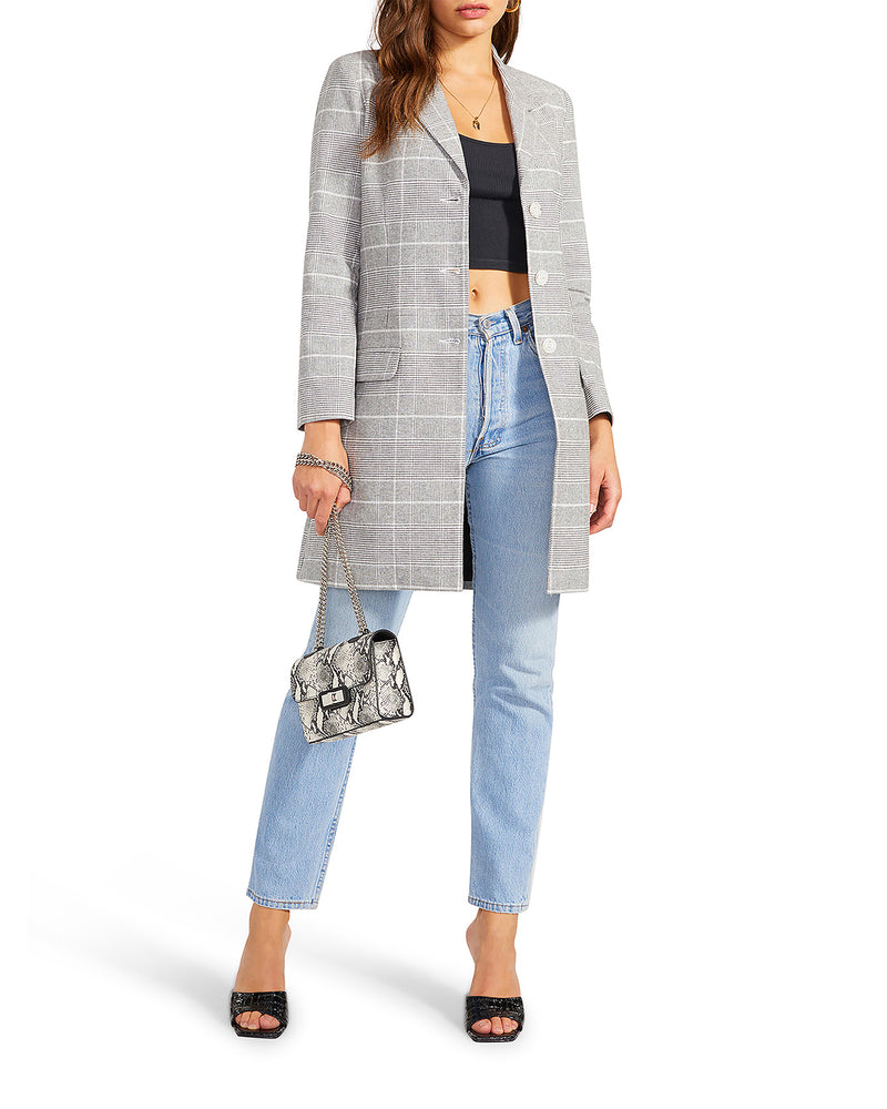 PLAID TO DO IT BLAZER GREY