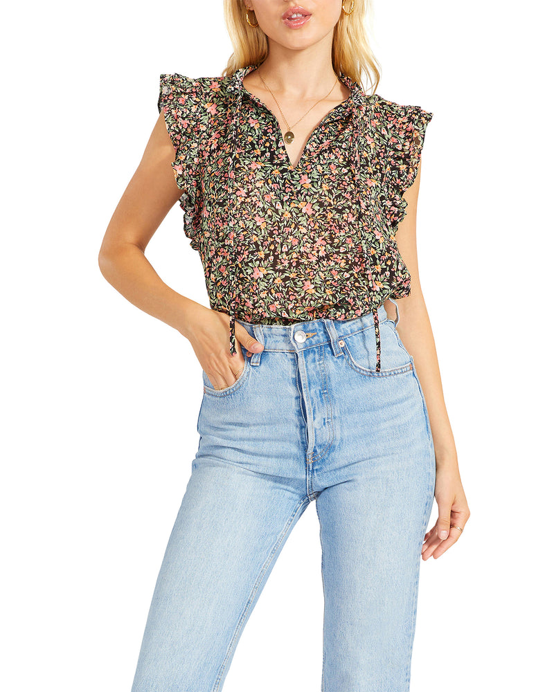 MEADOW MOOD TOP BLACK MULTI