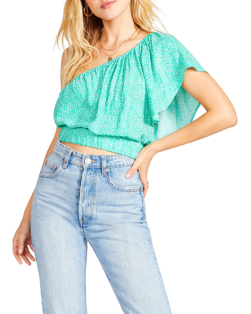 WANDERIN' KIND TOP GREEN