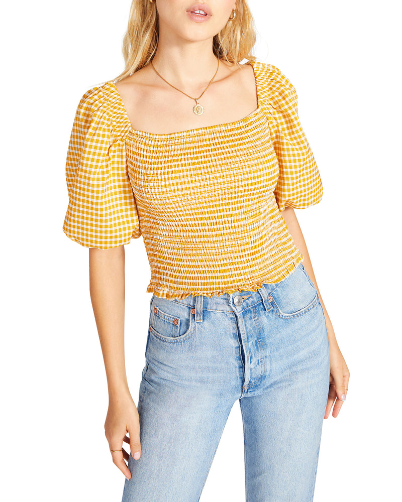 SUNSHINE SUPERWOMAN TOP YELLOW