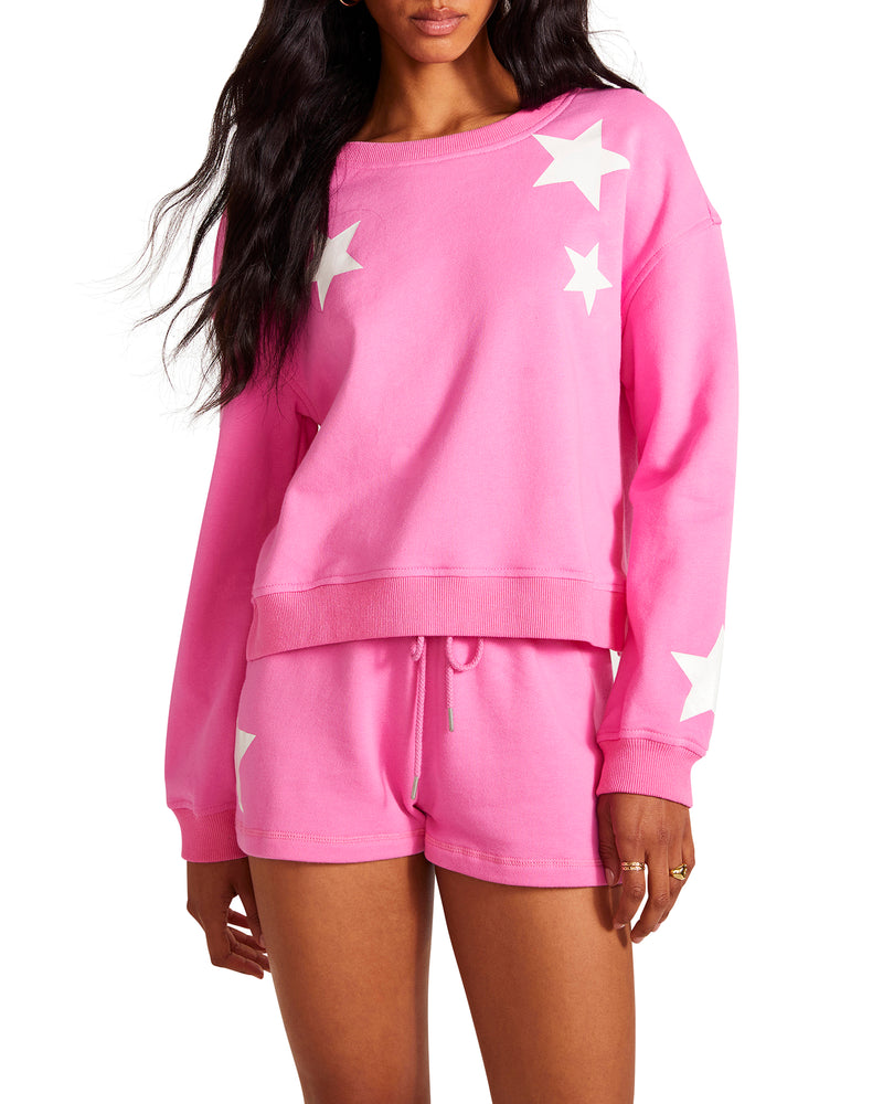 FIVE STAR SWEATSHIRT PINK