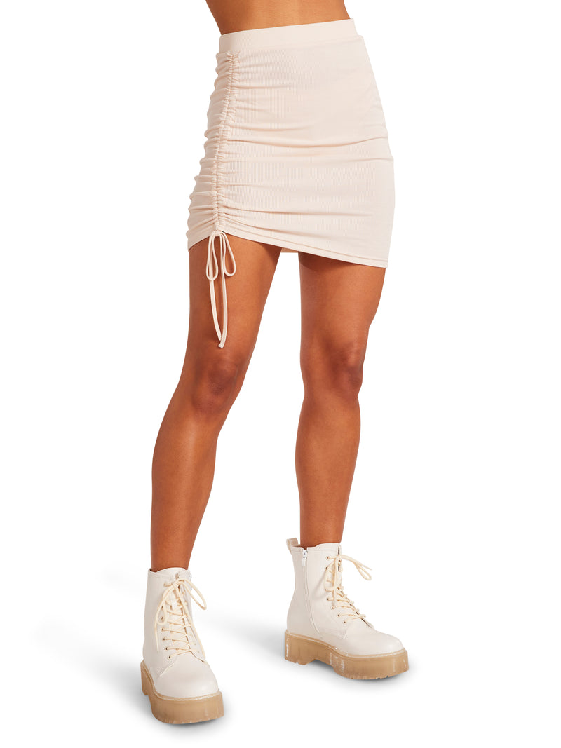 FROM THE TOP SKIRT BEIGE