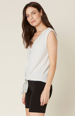 Knit's Been Real Tank with Tie Front