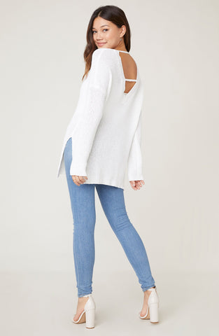 Heart's Content Open Back Sweater