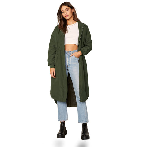 CATCH ME OUTDOORS COAT ARMY GREEN