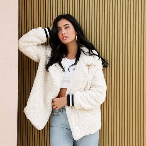 FLEECE & LOVE JACKET IVORY