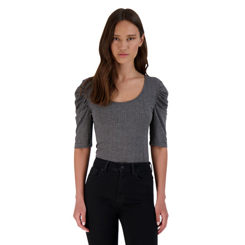 GET THE SCOOP TOP MD. HEATHER GREY