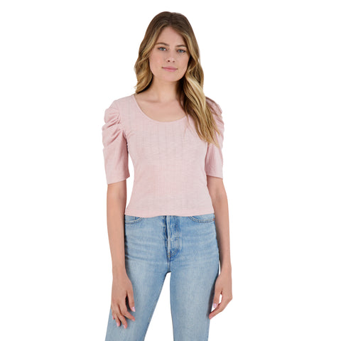 GET THE SCOOP TOP ROSETTE PINK