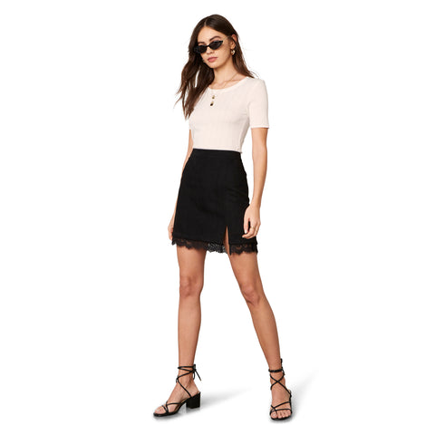 MELROSE LACE SKIRT BLACK