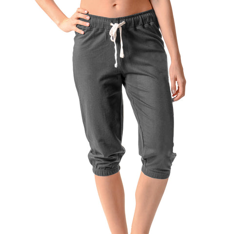CROPPED JOGGER CHARCOAL