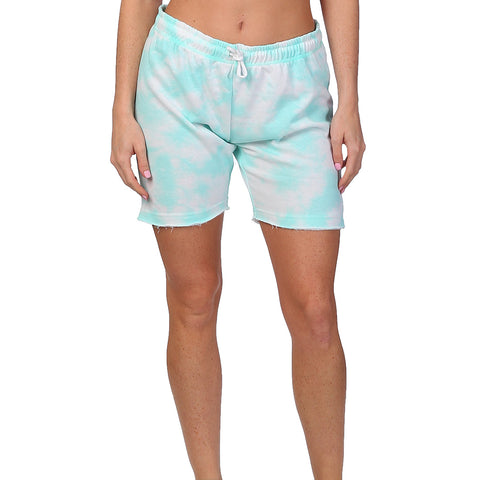 TIE-DYE BERMUDA LIGHT GREEN
