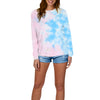 TIE-DYE LONG SLEEVE TOP PASTEL MULTI