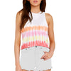 TIE-DYE CROPPED OMBRE TANK YELLOW WHITE