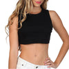 CROPPED TANK TOP BLACK