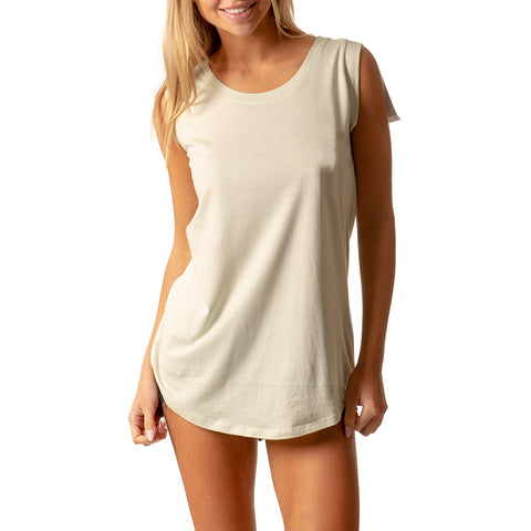 LONG SCOOP NECK T-SHIRT PASTEL GREEN