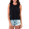 CREW NECK TANK TOP BLACK