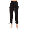 HIGH-WAISTED TIE PANT BLACK