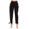 HIGH-WAISTED TIE PANT PLUS BLACK