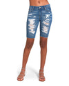 DENIM BERMUDA SHORTS DENIM FABRIC