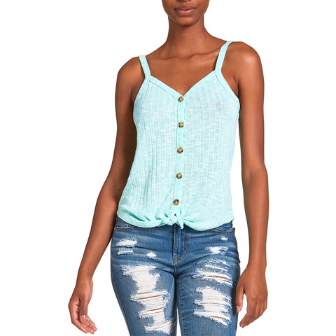KNOTTED TANK MINT GREEN