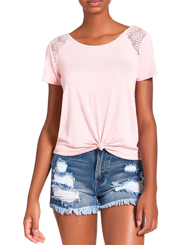 KNOTTED TEE BLUSH