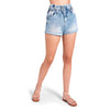 PAPER BAG DENIM SHORTS LIGHT BLUE