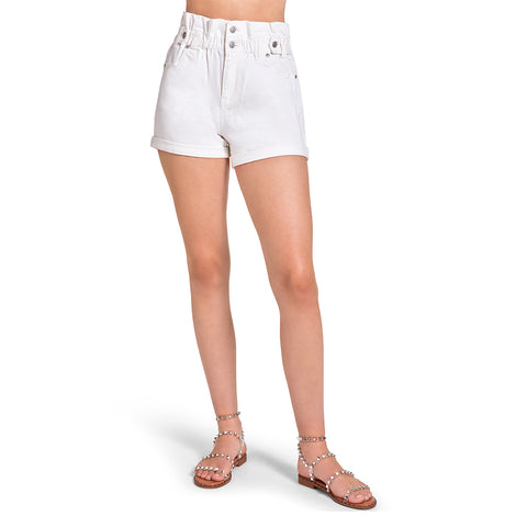 PAPER BAG SHORTS WHITE