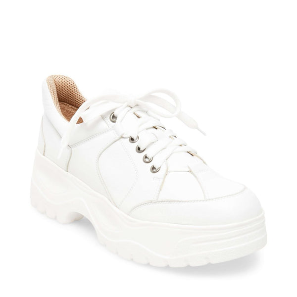 BLOCK WHITE LEATHER - Steve Madden