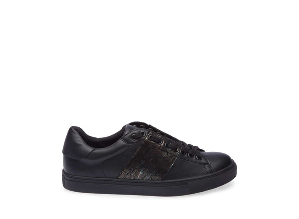 Clothing, Shoes & Accessories Womens Casual Athletic Steve Madden Black W/ White Stitches Small 5.5 Bright In Colour